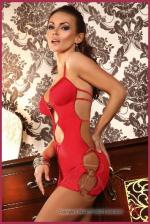 Szexi ruha, Beauty Night Amelia piros dressz S/M
