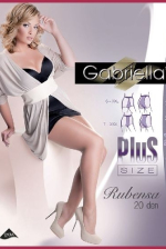 Szexi harisnya, Plus Size Gabriella Rubensa, neutro 6