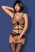 Erotikus fehérnemű, N114 fekete cicaruha