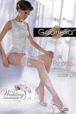 Esküvői combharisnya, Princessa calze 09, fehér