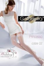 Fehér esküvői combharisnya, Princessa 02