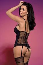 Fekete fűző és tanga, Rosana corset