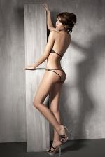 Szexi body Naked Shadow, fekete XL