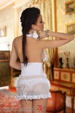 Szexi esküvői fehérnemű, Perla szett, fehér S/M