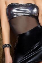 Szexi ruha, Beauty Night Moonlight dressz, fekete S/M