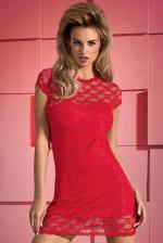 Szexi ruha, Dressita dressz és tanga, piros XXL